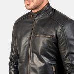 Dean Black Leather Biker Jacket