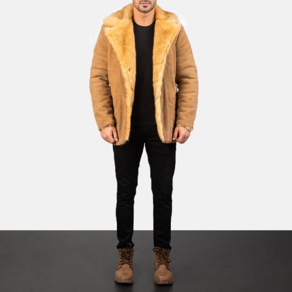 Furlong Beige Leather Coat