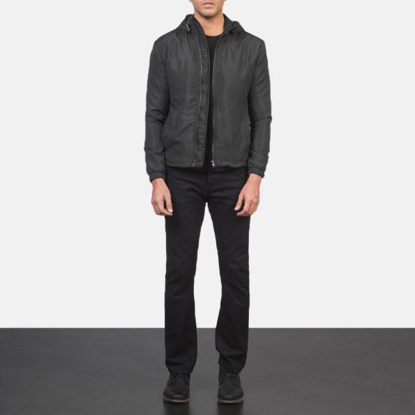 Jimmy Black Hooded Windbreaker Jacket