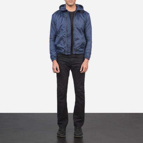 Jimmy Blue Hooded Windbreaker Jacket