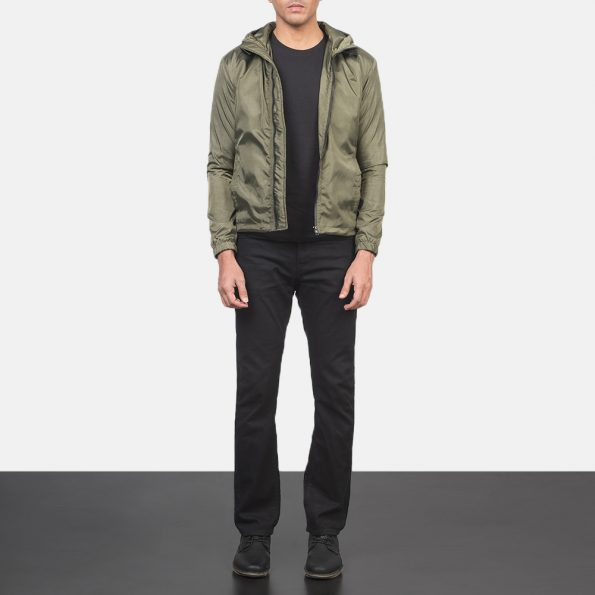 Jimmy Green Hooded Windbreaker Jacket