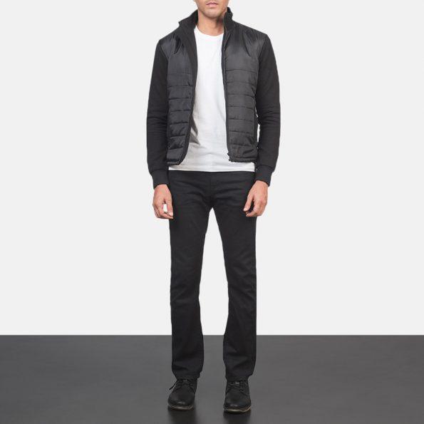 Nashville Quilted Black Windbreaker Jacket