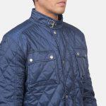 Nelson Quilted Blue Windbreaker Jacket