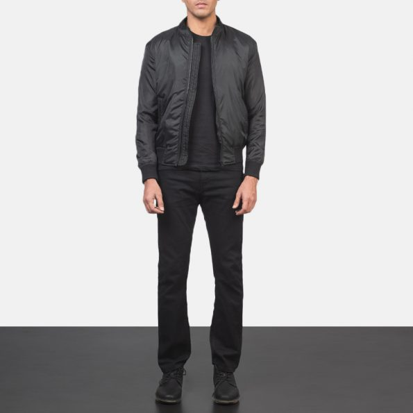 Ramon Black Bomber Jacket