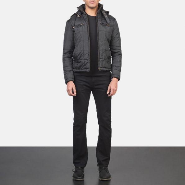 Alps Quilted Black Windbreaker Jacket