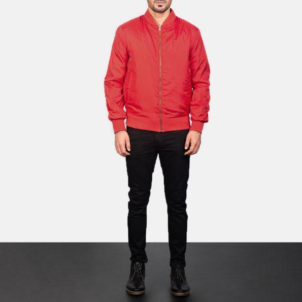 Zack Red Bomber Jacket