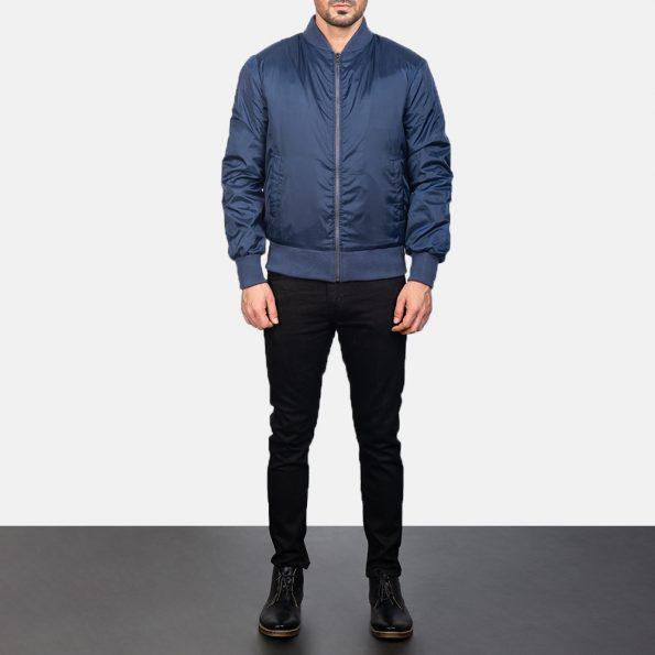 Zack Blue Bomber Jacket