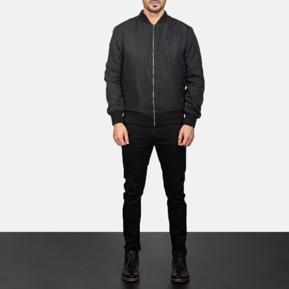 Zack Black Bomber Jacket