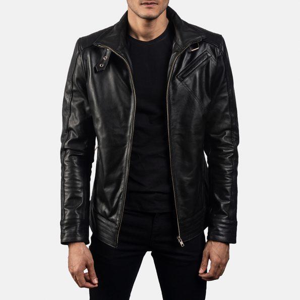 Legacy Black Leather Biker Jacket
