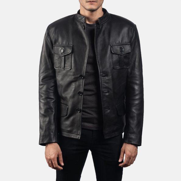 Ray Cutler Black Leather Blazer