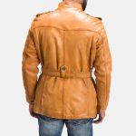 Hunter Tan Brown Fur Leather Jacket