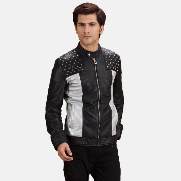 Shapron Studded Leather Biker Jacket
