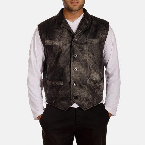 Solaride Distressed Leather Vest