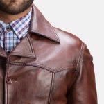 Vincent Alley Brown Leather Jacket