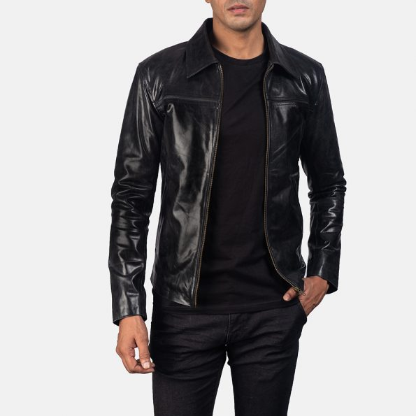 Mystical Black Leather Jacket