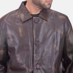 Classmith Brown Leather Coat