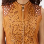 Westina Tan Dye Leather Vest