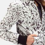 Donna Blake White Leather Bomber Jacket