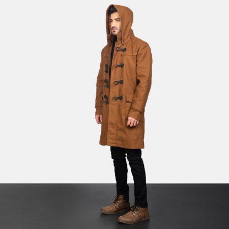 Drake Khaki Wool Duffle Coat